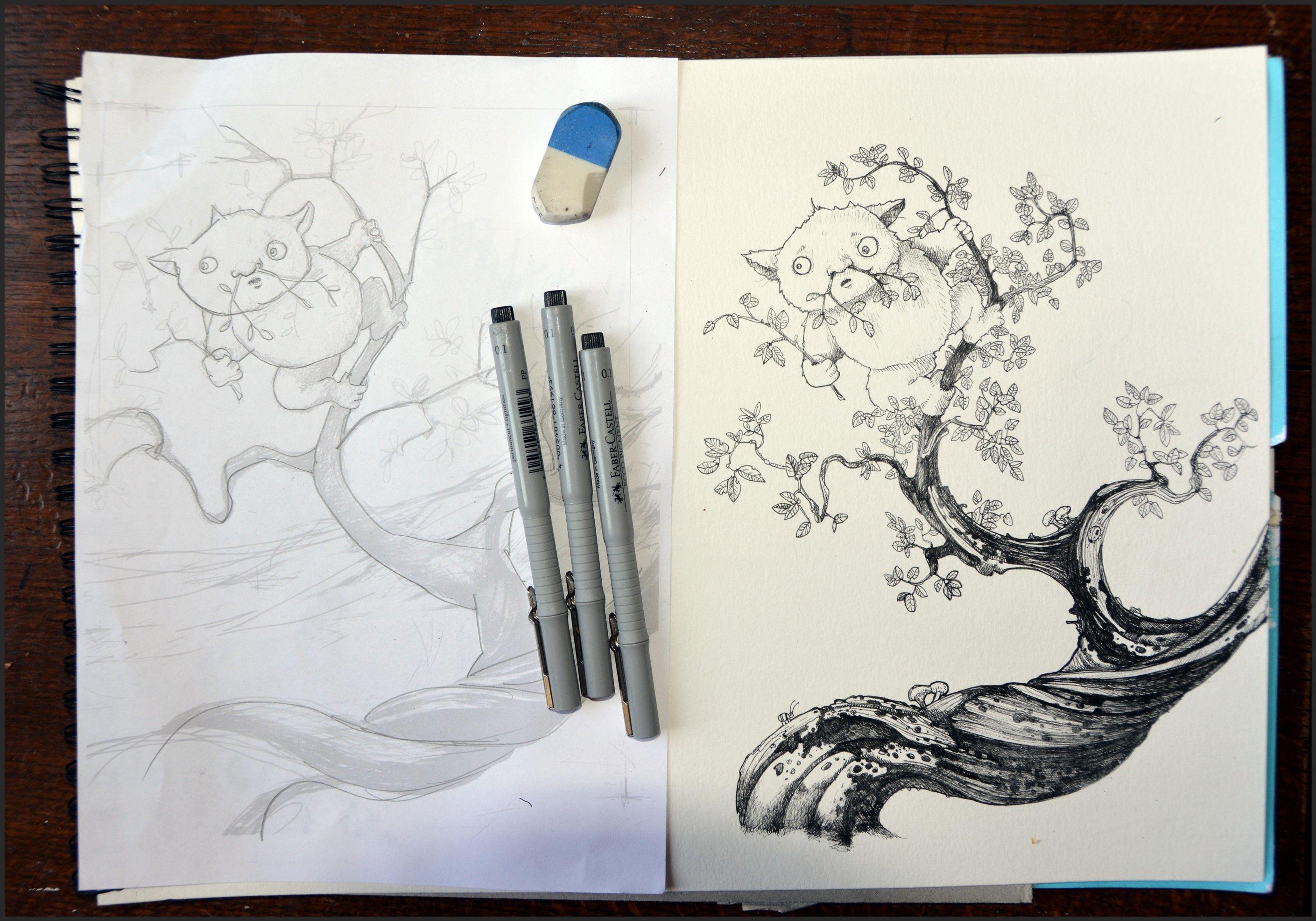 Sketch of Splot Andrew Tong Art